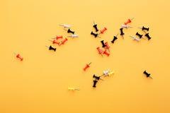 Reeks duwspelden in verschillende kleuren Stock Fotografie