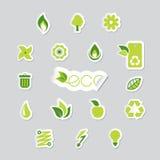 Reeks ecologiepictogrammen. Royalty-vrije Stock Afbeelding