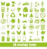 Reeks ecopictogrammen stock illustratie