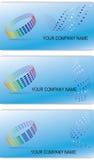 Reeks editable adreskaartjes Royalty-vrije Stock Foto