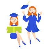 reeks Een gediplomeerde met een diploma Stock Fotografie