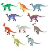 Reeks eenddinosaurussen Royalty-vrije Stock Foto's