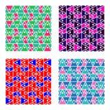 Reeks eenvoudige geometrische achtergronden met driehoeken Royalty-vrije Stock Foto
