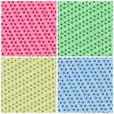 Reeks eenvoudige kleurrijke naadloze patronenpunten Royalty-vrije Stock Fotografie