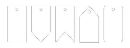 Reeks Eenvoudige Markeringen met Plaats voor Uw Tekst Royalty-vrije Stock Afbeelding