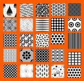 Reeks eenvoudige naadloze geometrische patronen Stock Foto