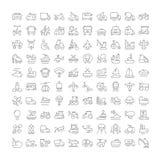 Reeks Eenvoudige Pictogrammen van Vervoer Royalty-vrije Stock Fotografie