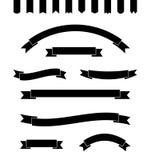 Reeks eenvoudige zwart-wit banners Vector illustratie Royalty-vrije Stock Foto's