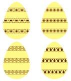 Reeks eieren Stock Fotografie