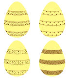 Reeks eieren Stock Afbeelding