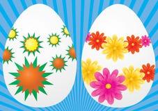 Reeks eieren voor Pasen Stock Afbeelding