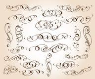 Reeks elegante decoratieve rolelementen Vector illustratie vector illustratie