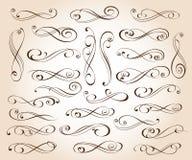 Reeks elegante decoratieve rolelementen Vector illustratie stock illustratie