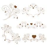 Reeks: elegante elementen en paginadecoratie Royalty-vrije Stock Foto