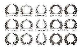 Reeks elegante ronde kaders EPS8 Royalty-vrije Stock Fotografie
