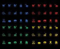 Reeks elektronische handelpictogrammen Stock Afbeeldingen