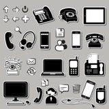 Reeks elektronische symbolen Royalty-vrije Stock Afbeelding