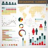 reeks elementen Infographic Stock Afbeeldingen