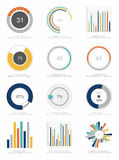reeks elementen Infographic Royalty-vrije Stock Afbeeldingen