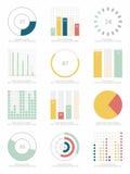 reeks elementen Infographic Stock Foto