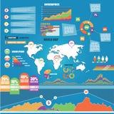 reeks elementen Infographic Royalty-vrije Stock Foto's