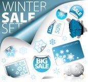 Reeks elementen van de de winterkorting Royalty-vrije Stock Foto's