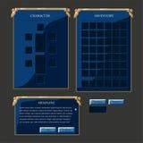 Reeks elementen van de fantasie vectorinterface Royalty-vrije Stock Afbeelding