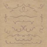 Reeks elementen van de lijnen Royalty-vrije Illustratie