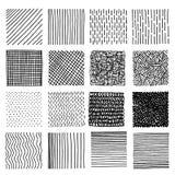 Reeks elementen van het inkthand getrokken vectorontwerp Royalty-vrije Stock Fotografie