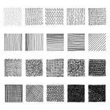 Reeks elementen van het inkthand getrokken vectorontwerp Royalty-vrije Stock Foto