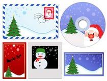 Reeks elementen van Kerstmis Royalty-vrije Stock Foto's