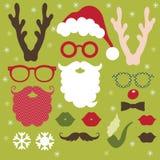 Reeks Elementen van Kerstmis vector illustratie