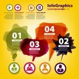 Reeks elementen voor infographic Stock Afbeelding