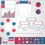 Reeks elementen voor infographic Stock Foto's