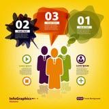 Reeks elementen voor infographic met team Royalty-vrije Stock Afbeeldingen