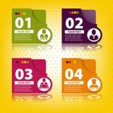 Reeks elementen voor infographics Royalty-vrije Stock Foto's