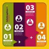 Reeks elementen voor infographics Royalty-vrije Stock Foto