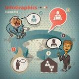 Reeks elementen voor infographics Stock Foto's