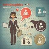 Reeks elementen voor infographics Stock Afbeeldingen