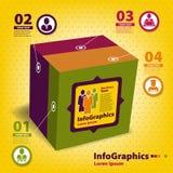 Reeks elementen voor infographics in de vorm Stock Afbeeldingen