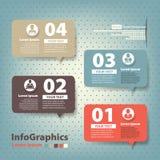 Reeks elementen voor infographics in de vorm speec Royalty-vrije Stock Foto