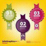Reeks elementen voor infographics met zegels Stock Fotografie