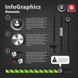 Reeks elementen voor infographics in UI Royalty-vrije Stock Foto