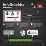 Reeks elementen voor infographics in UI-stijl Stock Afbeelding