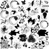 Reeks elementen voor ontwerp Stock Afbeeldingen