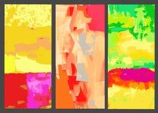 Reeks elementen voor ontwerp abstracte achtergronden Royalty-vrije Stock Foto
