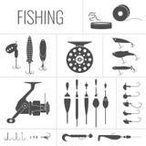 Reeks elementen voor visserij royalty-vrije illustratie