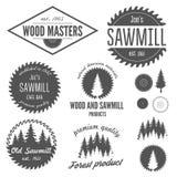 Reeks embleem, etiketten, kentekens en logotype elementen Stock Foto's