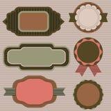 Reeks emblemen Stock Afbeelding