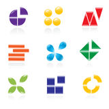 Reeks emblemen. vector illustratie